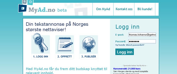 MyAd.no leverer tekstannonser til blant annet Nettavisen og NA24